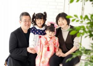 家族 スタジオ 写真