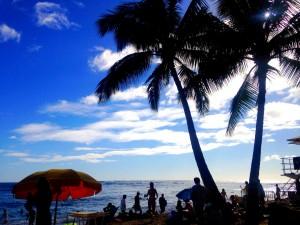 ワイキキビーチ 海 ハワイ 風景