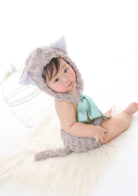 ネコとウサギの着ぐるみ衣裳